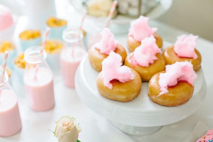 Doughnuts from a Pastel Art Themed Birthday Party via Kara's Party Ideas | KarasPartyIdeas.com (23)