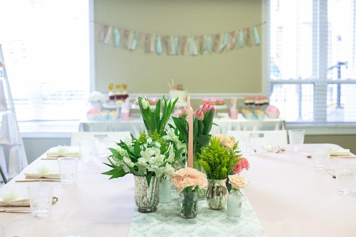 Dining + Sweet Table from a Pastel Art Themed Birthday Party via Kara's Party Ideas | KarasPartyIdeas.com (17)