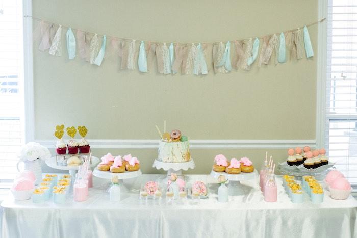 Sweet Table from a Pastel Art Themed Birthday Party via Kara's Party Ideas | KarasPartyIdeas.com (16)