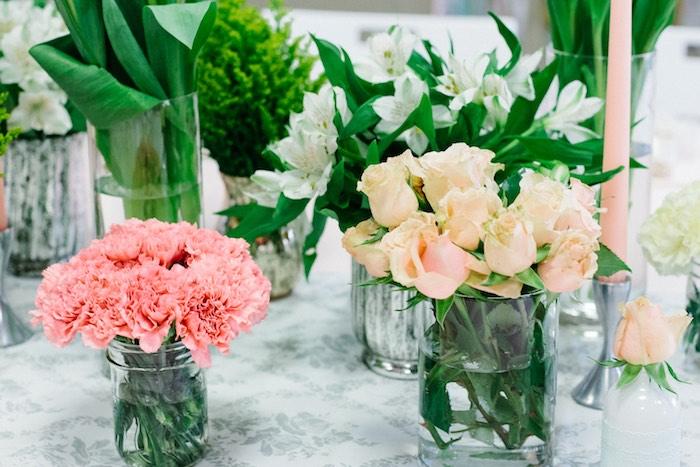 Florals from a Pastel Art Themed Birthday Party via Kara's Party Ideas | KarasPartyIdeas.com (15)