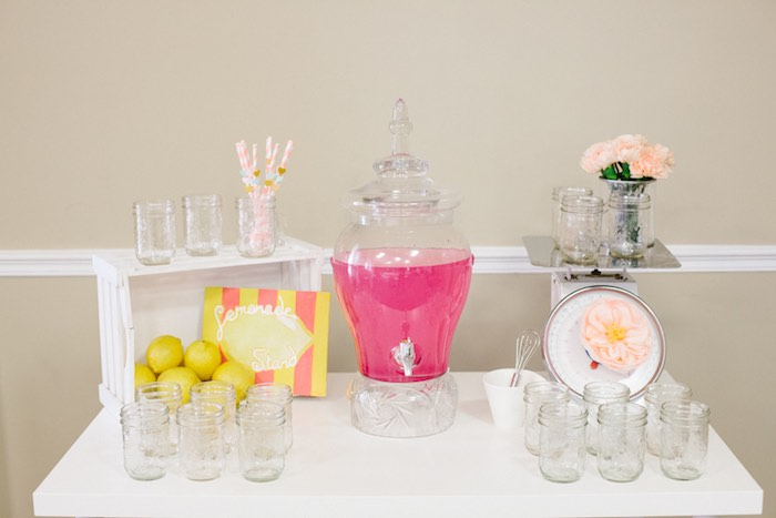 Drink Table from a Pastel Art Themed Birthday Party via Kara's Party Ideas | KarasPartyIdeas.com (13)