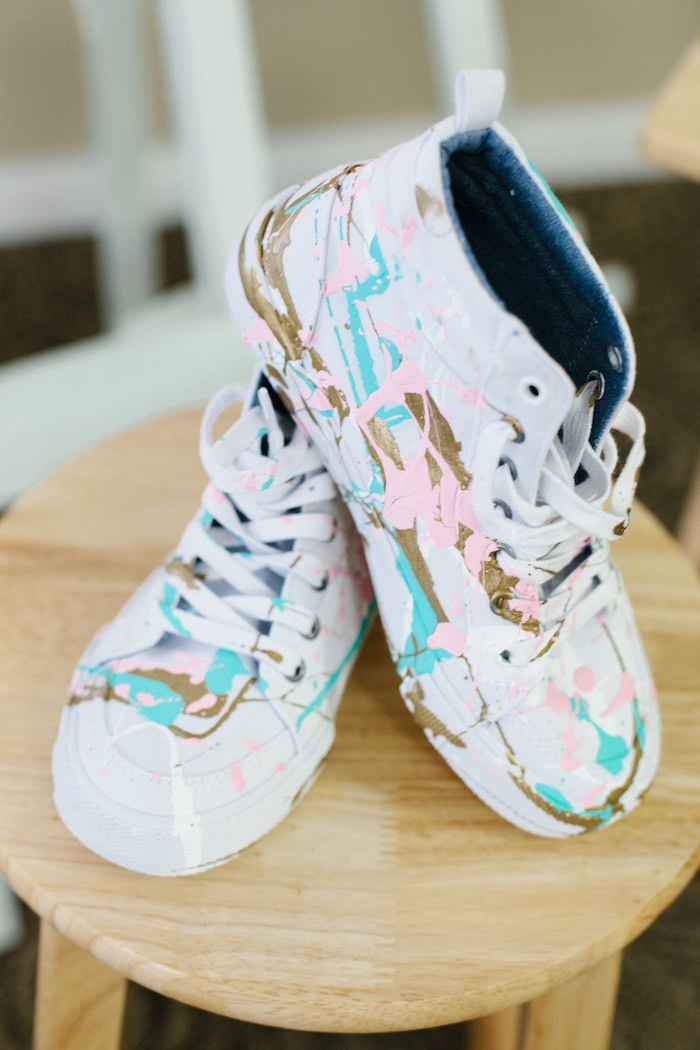 Shoes from a Pastel Art Themed Birthday Party via Kara's Party Ideas | KarasPartyIdeas.com (40)