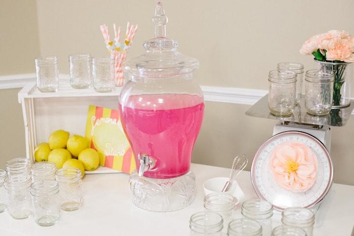 Drink Table from a Pastel Art Themed Birthday Party via Kara's Party Ideas | KarasPartyIdeas.com (12)