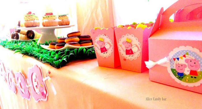 Sweets + Snacks + Favors from a Peppa Pig Princess Birthday Party via Kara's Party Ideas KarasPartyIdeas.com (2)