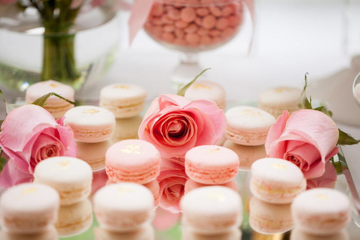 Macarons from a Pink & Gold Christening Party via Kara's Party Ideas! KarasPartyIdeas.com (15)