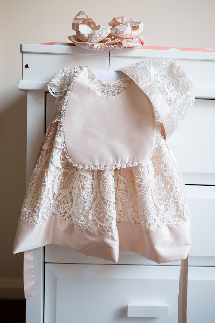 Christening Gown from a Pink & Gold Christening Party via Kara's Party Ideas! KarasPartyIdeas.com (24)