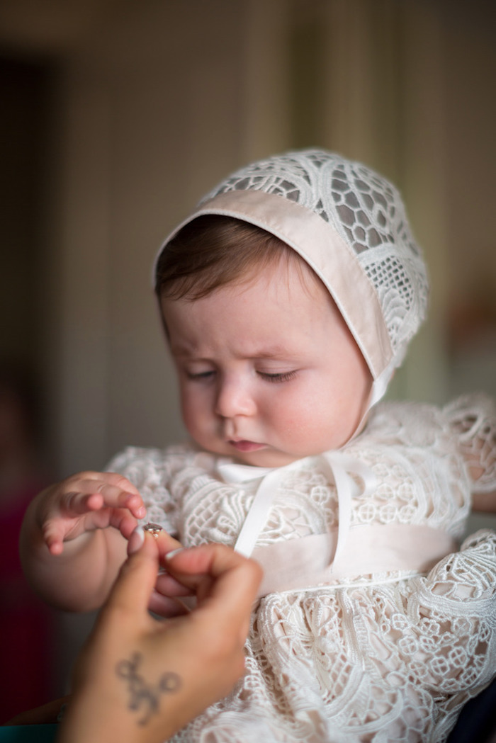 Guest of Honor from a Pink & Gold Christening Party via Kara's Party Ideas! KarasPartyIdeas.com (23)