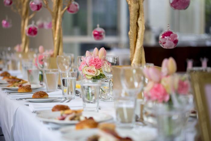 Kara S Party Ideas Pink Gold Christening Party Kara S Party Ideas