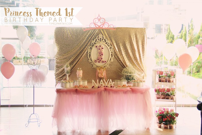 Kara's Party Ideas Princess 1st Birthday Celebration ...