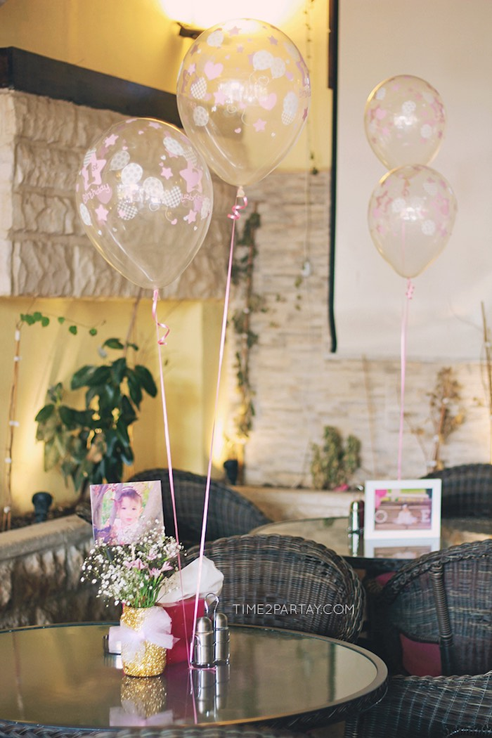 Guest Tables from a Pink & Gold Princess Party via Kara's Party Ideas | KarasPartyIdeas.com | The Place for All Things Party! (12)
