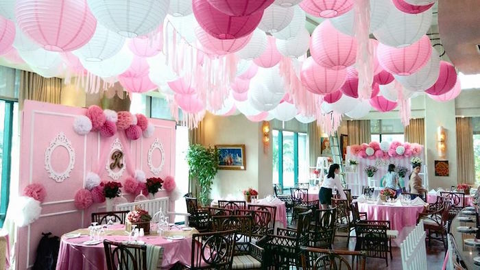 Partyscape from a Pink Princess Baptism Party via Kara's Party Ideas | The Place for All Things Party! KarasPartyIdeas.com (23)