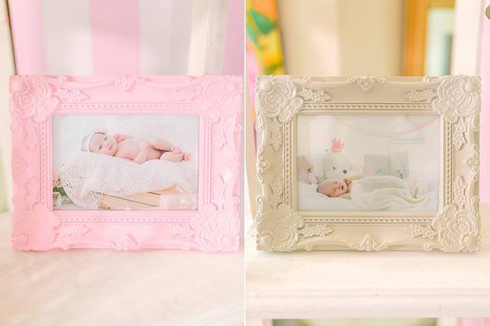 Framed Photos from a Pink Princess Baptism Party via Kara's Party Ideas | The Place for All Things Party! KarasPartyIdeas.com (21)