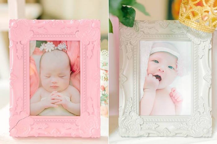 Framed Photos from a Pink Princess Baptism Party via Kara's Party Ideas | The Place for All Things Party! KarasPartyIdeas.com (16)