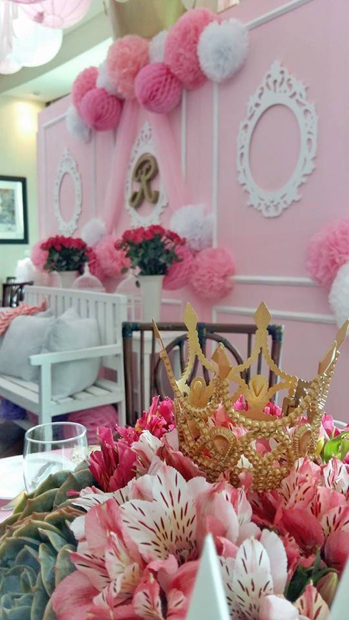 Details from a Pink Princess Baptism Party via Kara's Party Ideas | The Place for All Things Party! KarasPartyIdeas.com (32)