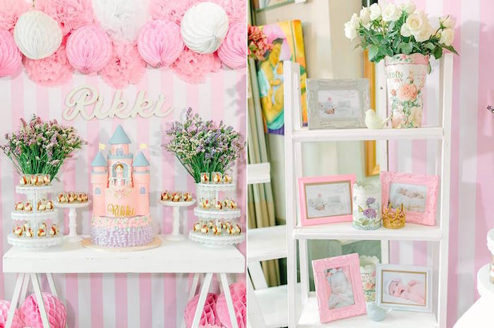 Details from a Pink Princess Baptism Party via Kara's Party Ideas | The Place for All Things Party! KarasPartyIdeas.com (9)