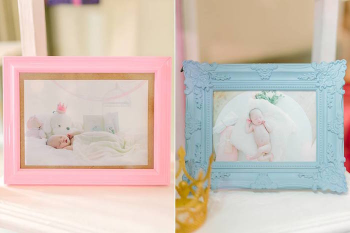 Framed Photos from a Pink Princess Baptism Party via Kara's Party Ideas | The Place for All Things Party! KarasPartyIdeas.com (6)