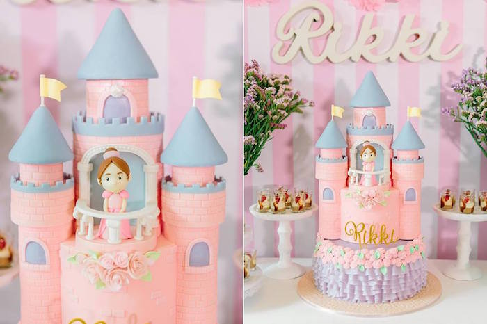 Cake from a Pink Princess Baptism Party via Kara's Party Ideas | The Place for All Things Party! KarasPartyIdeas.com (4)