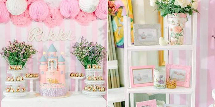 Details from a Pink Princess Baptism Party via Kara's Party Ideas | The Place for All Things Party! KarasPartyIdeas.com (1)