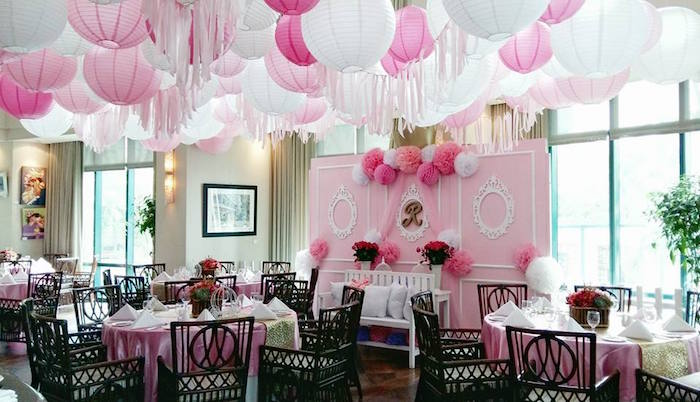 Partyscape from a Pink Princess Baptism Party via Kara's Party Ideas | The Place for All Things Party! KarasPartyIdeas.com (30)