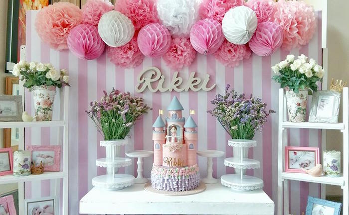 Karas Party Ideas Pink Princess Baptism
