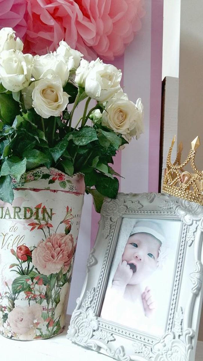 Decorations from a Pink Princess Baptism Party via Kara's Party Ideas | The Place for All Things Party! KarasPartyIdeas.com (26)