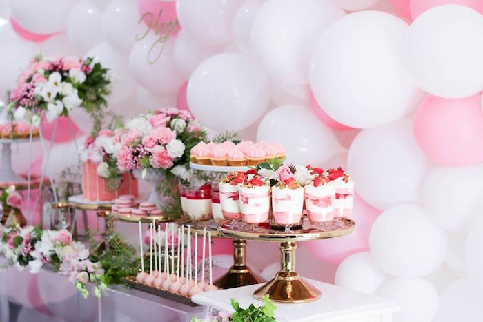 Desserts from a Pink + White & Gold Garden Party via Kara's Party Ideas | KarasPartyIdeas.com (5)