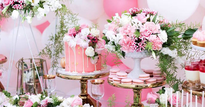 Details from a Pink + White & Gold Garden Party via Kara's Party Ideas | KarasPartyIdeas.com (1)