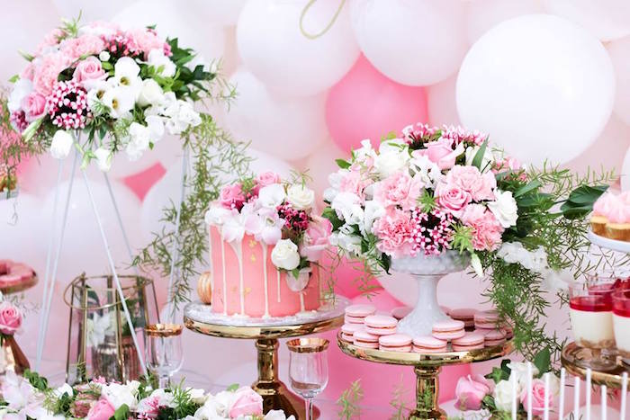 Details from a Pink + White & Gold Garden Party via Kara's Party Ideas | KarasPartyIdeas.com (25)
