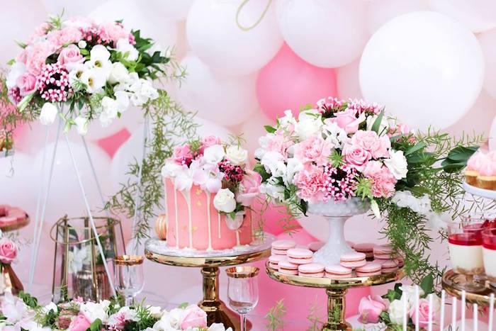 Details from a Pink + White & Gold Garden Party via Kara's Party Ideas | KarasPartyIdeas.com (25)