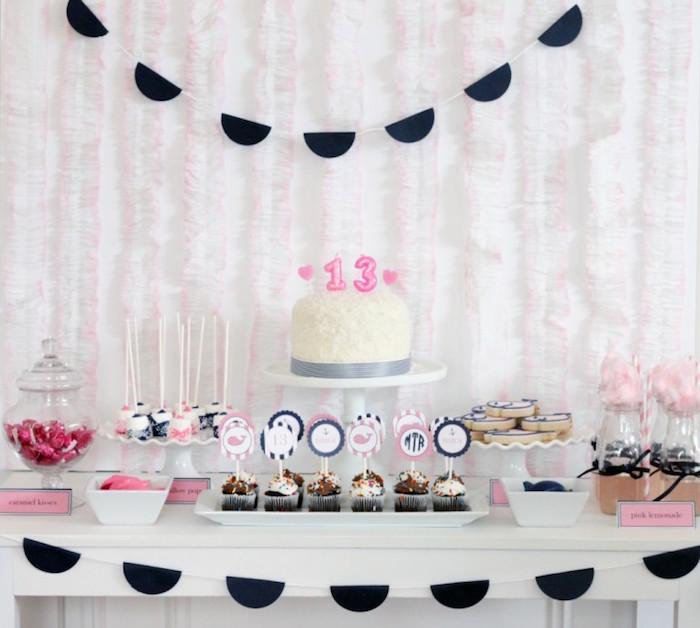 Sweet Table from a Preppy Whale Themed Birthday Party via Kara's Party Ideas KarasPartyIdeas.com (25)