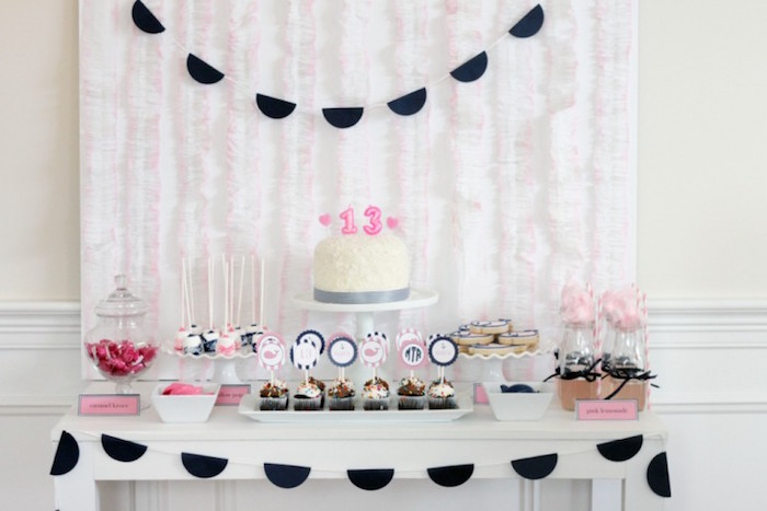 Dessert Table from a Preppy Whale Themed Birthday Party via Kara's Party Ideas KarasPartyIdeas.com (24)