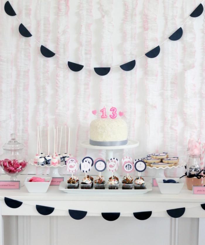 Sweet Table from a Preppy Whale Themed Birthday Party via Kara's Party Ideas KarasPartyIdeas.com (23)