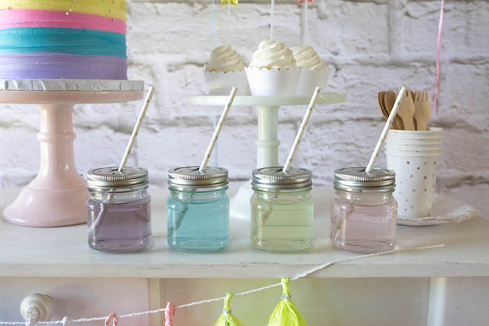 Drinks + Sweets from a Rainbow Unicorn Birthday Party via Kara's Party Ideas KarasPartyIdeas.com (18)