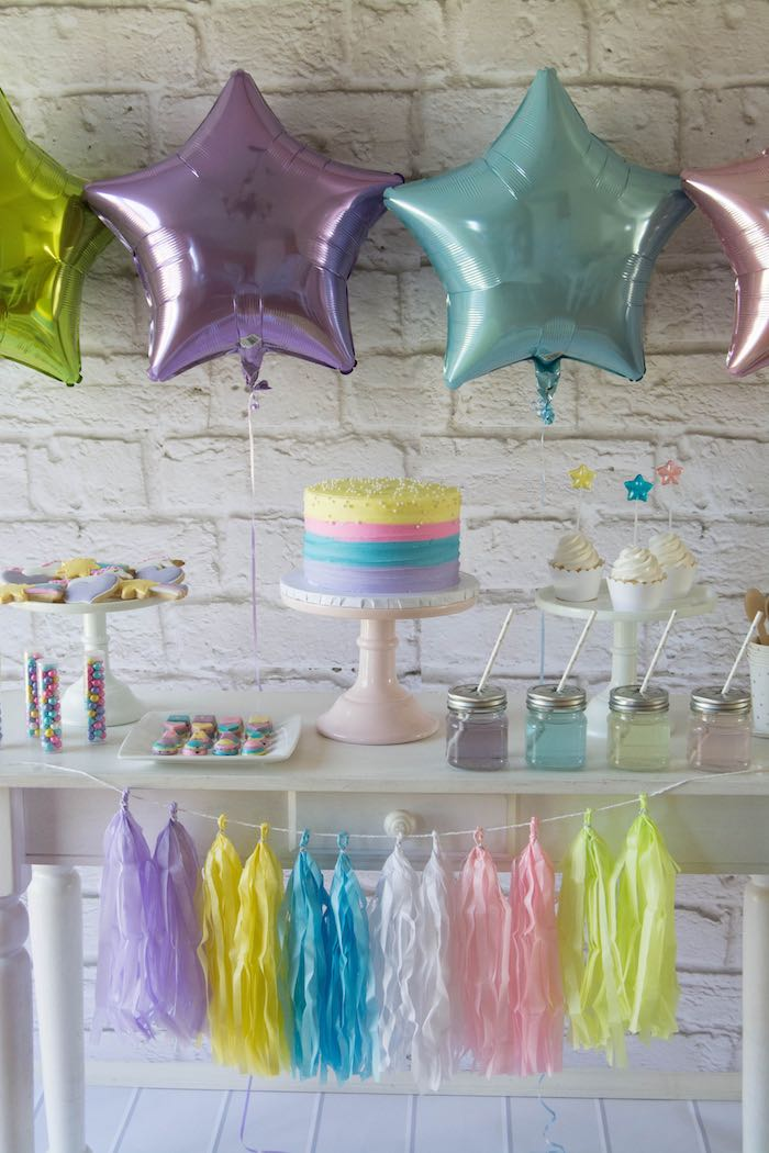 Sweet Table from a Rainbow Unicorn Birthday Party via Kara's Party Ideas KarasPartyIdeas.com (15)