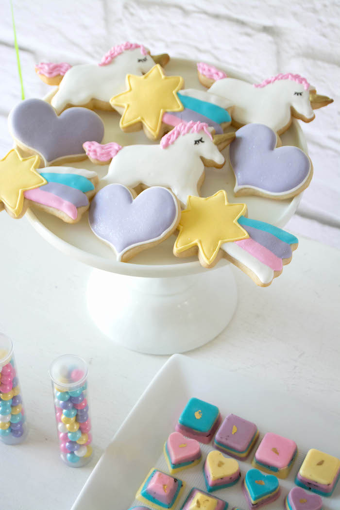 Sweets + Favors from a Rainbow Unicorn Birthday Party via Kara's Party Ideas KarasPartyIdeas.com (11)