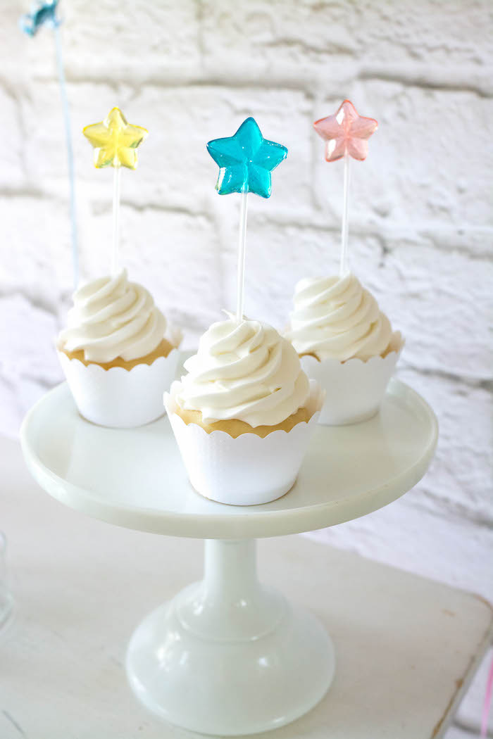 Cupcakes from a Rainbow Unicorn Birthday Party via Kara's Party Ideas KarasPartyIdeas.com (28)