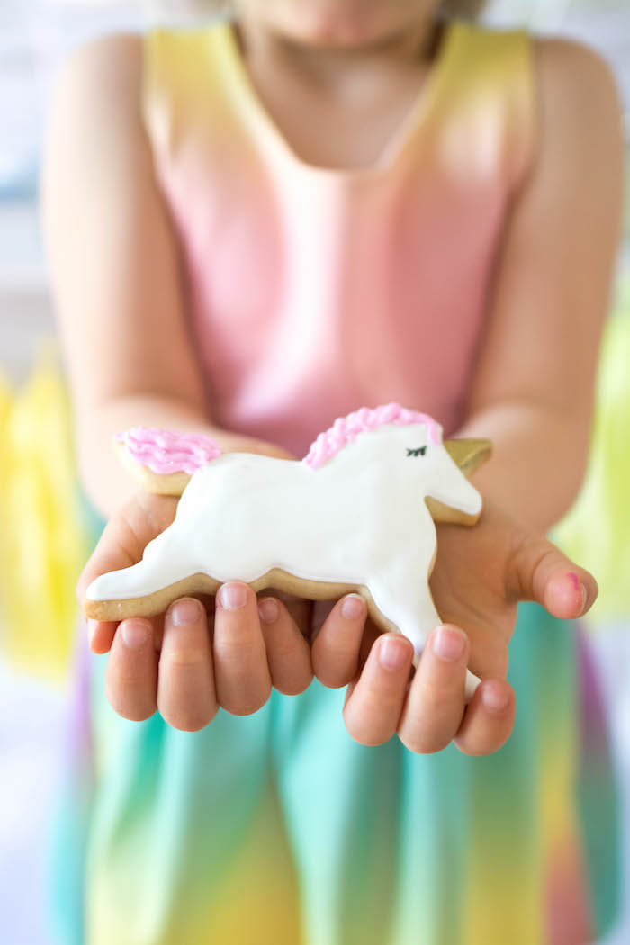 Unicorn Cookie from a Rainbow Unicorn Birthday Party via Kara's Party Ideas KarasPartyIdeas.com (4)