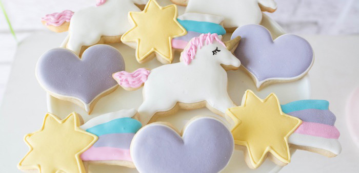 Cookies from a Rainbow Unicorn Birthday Party via Kara's Party Ideas KarasPartyIdeas.com (2)