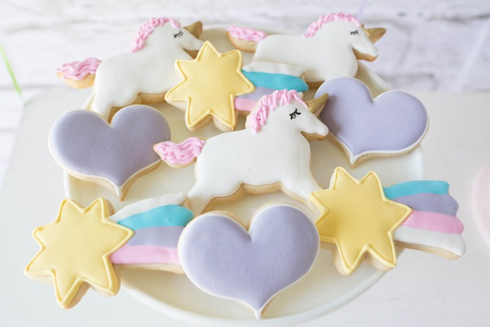 Cookies from a Rainbow Unicorn Birthday Party via Kara's Party Ideas KarasPartyIdeas.com (27)