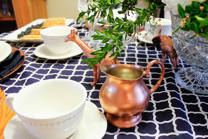 Copper Details from a Rustic Navy + Copper Baby Shower / Tea Party via Kara's Party Ideas | KarasPartyIdeas.com (24)