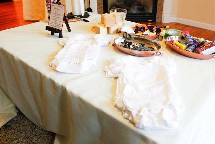 Activity from a Rustic Navy + Copper Baby Shower / Tea Party via Kara's Party Ideas | KarasPartyIdeas.com (11)