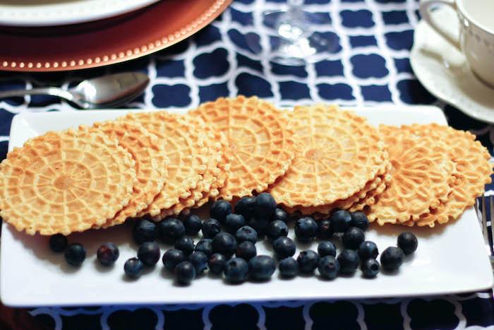 Waffles from a Rustic Navy + Copper Baby Shower / Tea Party via Kara's Party Ideas | KarasPartyIdeas.com (31)