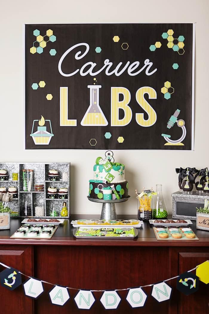 Kara S Party Ideas Science Lab Birthday Party Kara S