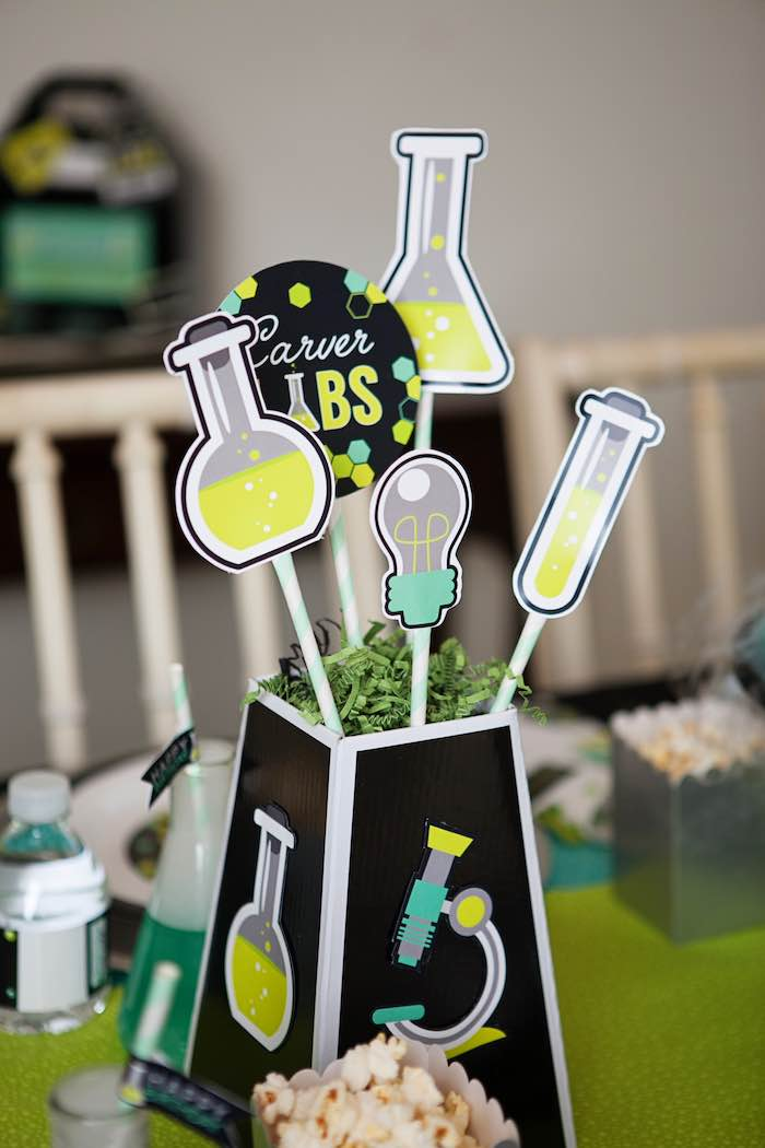 Table Centerpiece from a Science Lab Birthday Party via Kara's Party Ideas KarasPartyIdeas.com (37)