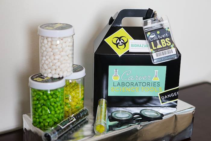Lab Tools + Favors from a Science Lab Birthday Party via Kara's Party Ideas KarasPartyIdeas.com (31)