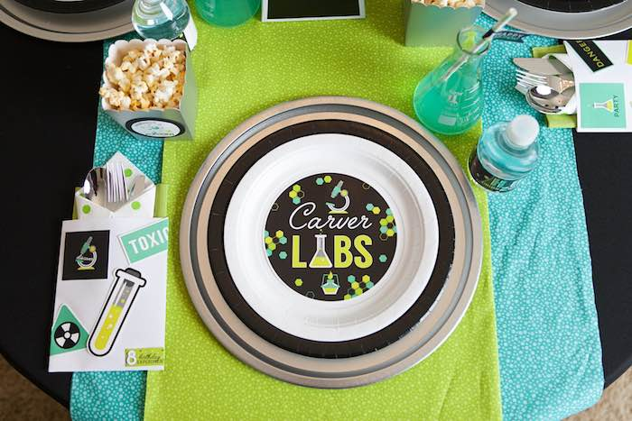 Place Setting from a Science Lab Birthday Party via Kara's Party Ideas KarasPartyIdeas.com (29)