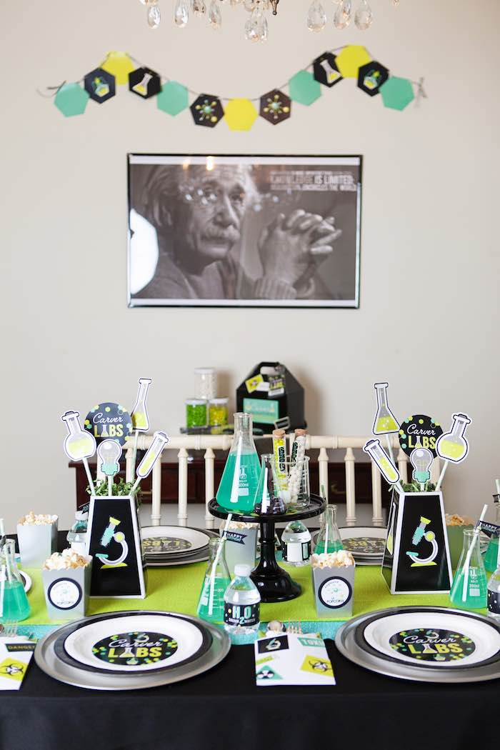 Kid Table from a Science Lab Birthday Party via Kara's Party Ideas KarasPartyIdeas.com (28)