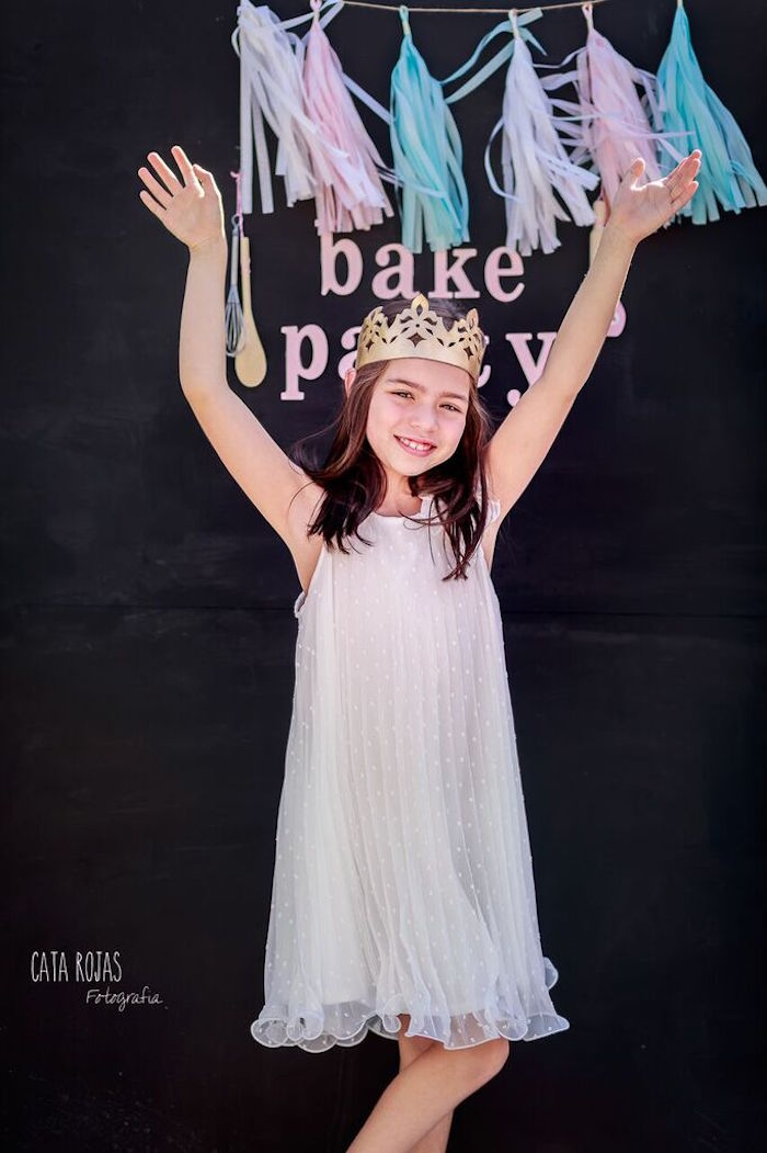Photo Op + Backdrop from a Shabby Chic Bakery Birthday Party via Kara's Party Ideas |The Place for All Things Party! KarasPartyIdeas.com (21)