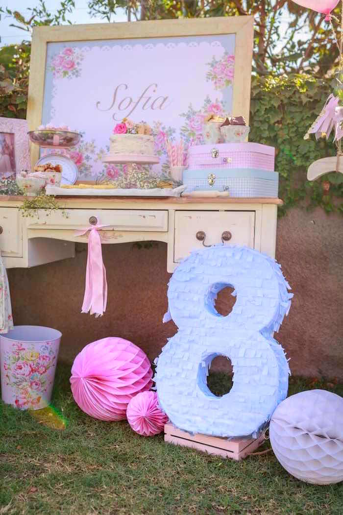 Decor Details from a Shabby Chic Bakery Birthday Party via Kara's Party Ideas |The Place for All Things Party! KarasPartyIdeas.com (17)