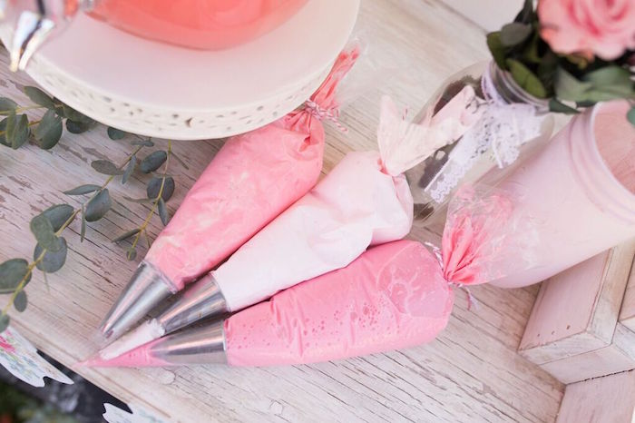 Icing Packs from a Shabby Chic Bakery Birthday Party via Kara's Party Ideas |The Place for All Things Party! KarasPartyIdeas.com (14)